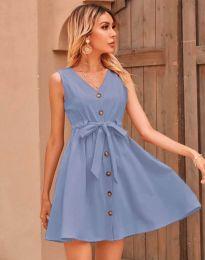 Дамска рокля в светлосиньо - код 8188