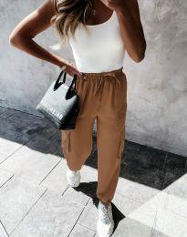 Дамски панталон в цвят капучино - код 11803