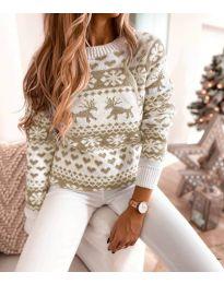 Дамски пуловер със зимен десен - код 2725 - 3