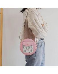 Кръгла  чанта в розово - код B163