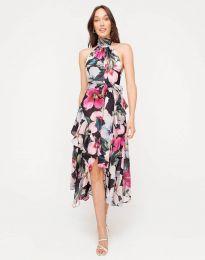 Дамска рокля с флорален десен - код 2032