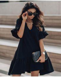 Свободна дамска рокля в черно - код 748