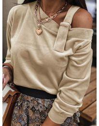 Дамска блуза в бежово - код 280