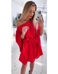Елегантна дамска рокля в червено - код 2315
