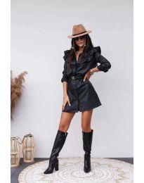 Елегантна рокля в черно - код 3008