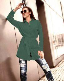 Дълга дамска риза в зелено - код 6739