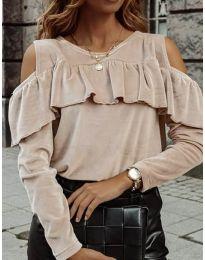 Дамска блуза в бежово - код 4111