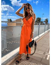 Елегантна рокля в оранжев цвят - код 547