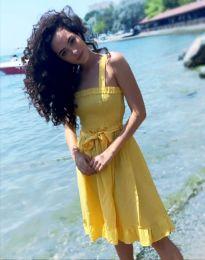 Лятна рокля в жълто - код 8113