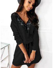 Свободна рокля в черно - код 5111