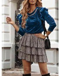 Дамска блуза в цвят тюркоаз - код 4948