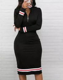 Дамска рокля в черно - код 3565