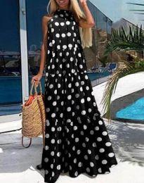 Дълга феерична рокля в черно - код 0288