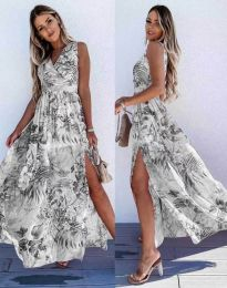 Дамска рокля с атрактивен десен - код 0570 - 3