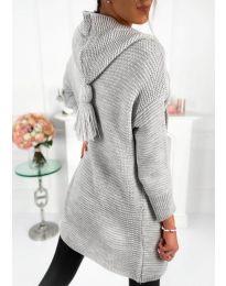 Плетена жилетка в сиво - код 998
