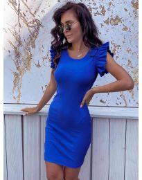 Изчистена рокля в синьо - 199
