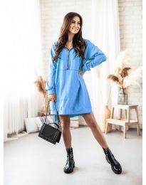 Дамска рокля в светлосиньо - код 6113