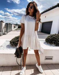 Атрактивна дамска рокля в бяло - код 11890