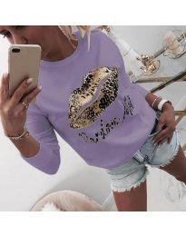 Дамска блуза в лилаво - код 975