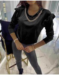 Дамска блуза в черно - код 6189