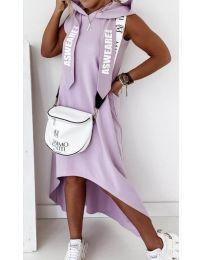 Свободна дамска рокля в лилаво - код 837