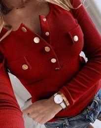 Ефектна дамска блуза в червено - код 11516