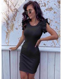 Изчистена рокля в черно - код 199