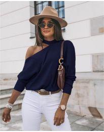 Дамска блуза в тъмно синьо - код 5618