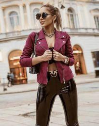 Елегантно дамско яке в цвят бордо - код 7759