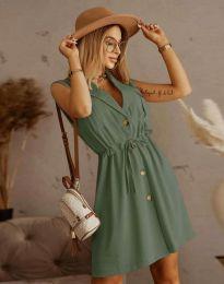 Елегантна рокля в масленозелено - код 2702