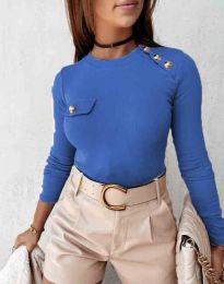 Атрактивна дамска блуза в синьо - код 2151