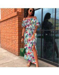 Феерична рокля с флорален десен - код 525 - 2