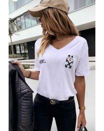 Дамска тениска в бяло - код 3021