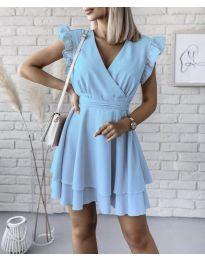 Екстравагантна рокля в светлосиньо - код 409