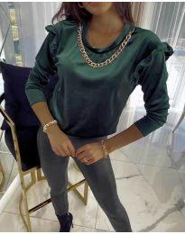 Дамска блуза в тъмнозелено - код 6189
