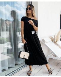 Изчистена рокля в черно - код 4151