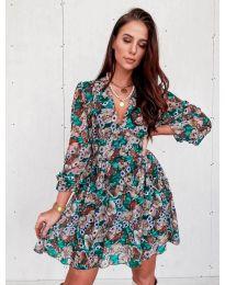 Феерична рокля с флорален мотив - код 3161 - 2