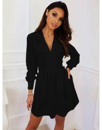 Кокетна рокля в черен цвят - код 089