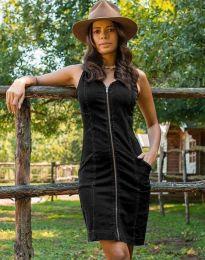 Дънкова рокля в черно - код 7735