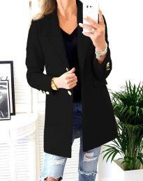 Дамско палто в черно - код 4679