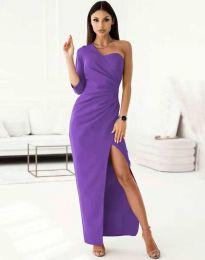 Елегантна рокля в лилаво - код 4511