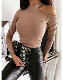 Дамска блуза в кафяво - код 8570