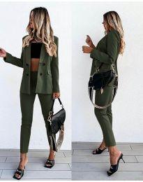 Дамски комплект в маслено зелено - код 5611