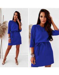 Елегантна дамска рокля в синьо - код 778