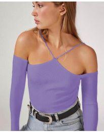 Дамска блуза в лилаво - код 8063