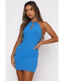 Атрактивна дамска рокля в синьо - код 11936