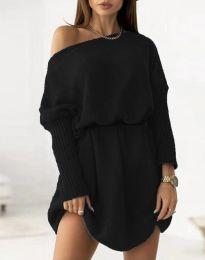 Дамска рокля в черно - код 6940
