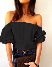 Екстравагантна дамска риза в черно - код 3525