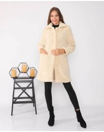 Дамско палто в бежово - код 1615