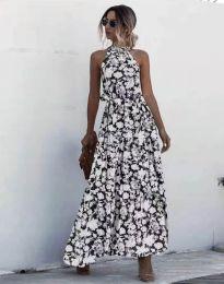 Дълга рокля с атрактивен десен - 6214 - 1